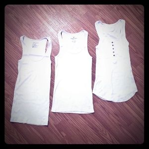 3 white Racerback Tank Tops for the price of 1!!